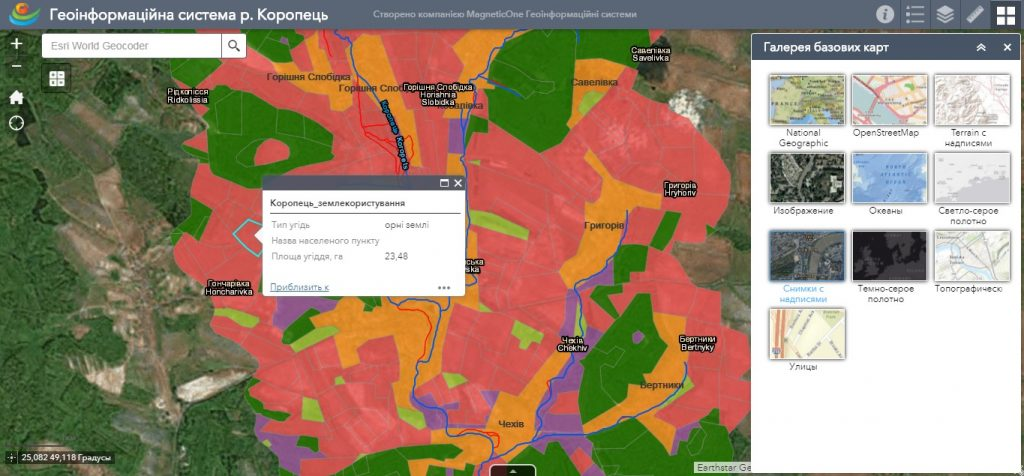Геоінформаційна система для водного кадастру