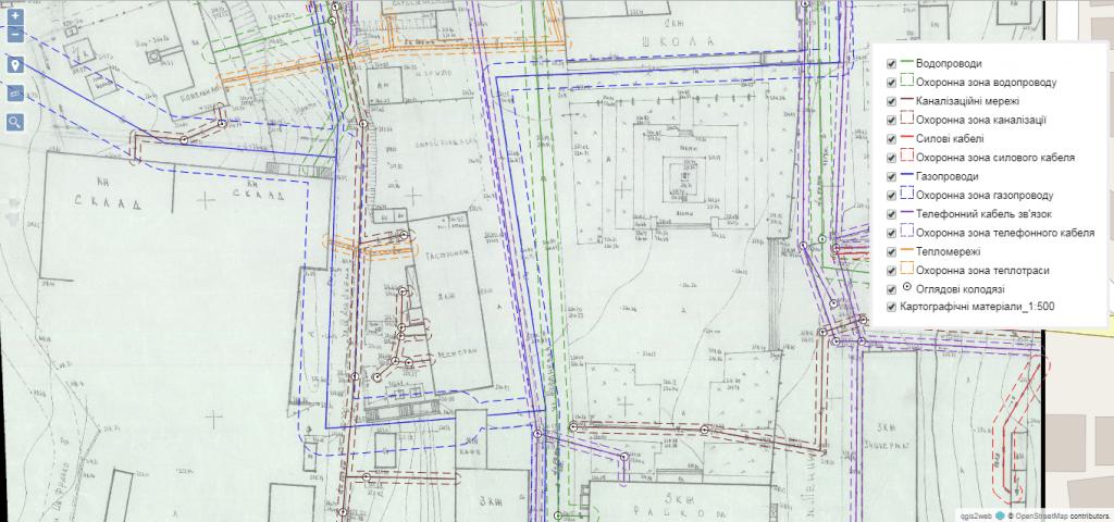 Оцифрування містобудівних планшетів