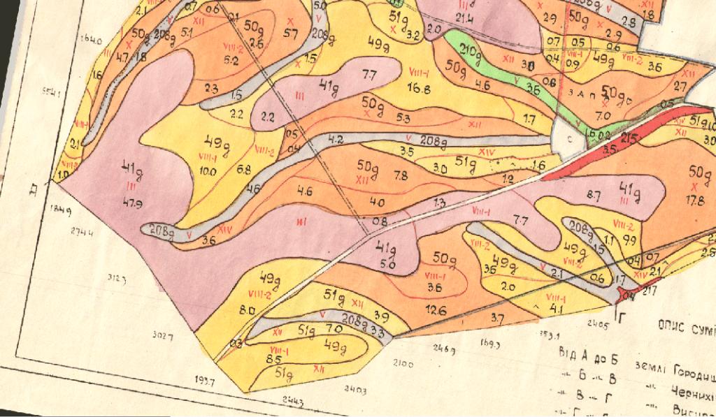Оцифрування карти ґрунтів