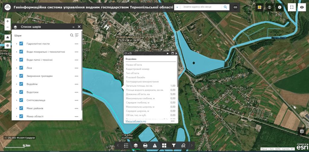 Геоінформаційна система управління водним господарством